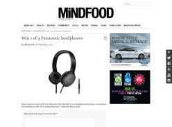 Win 1 of 3 Panasonic headphones!