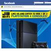 Win 1 of 3 PlayStation 4s!
