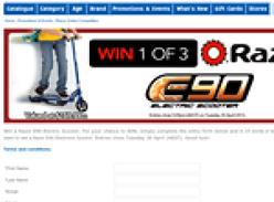 Win 1 of 3 Razor E90 electric scooters!