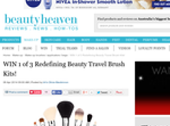 Win 1 of 3 Redefining Beauty Travel Brush Kits!