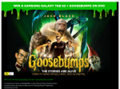 Win 1 of 3 Samsung Galaxy Tab S2s + 'Goosebumps' on DVD!
