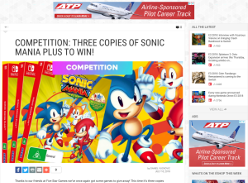 Win 1 of 3 Switch Copies of Sonic Mania Plus