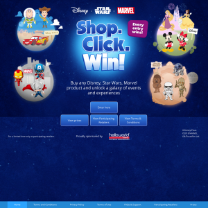 Win 1 of 3 Trips to any of the Disney destinations