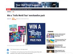 Win 1 of 3 Trolls World Tour merchandise packs!