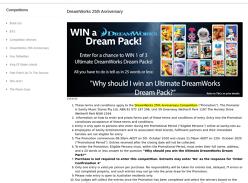 Win 1 of 3 Ultimate DreamWorks Dream Packs!