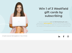 Win 1 of 3 Westfield Gift Cards by Subscribing