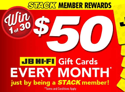 Win 1 of 30 $50 JB Hi-Fi Gift Cards