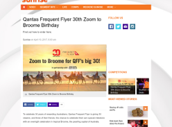 Win 1 of 30 trips to Broome for you & 3 friends!