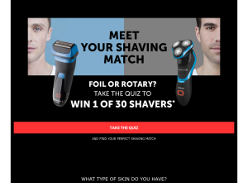 Win 1 of 30 XF8705AU Foil Shaver or a XR1550AU Rotary Shaver