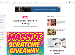 Win 1 of 300 $20 Scratch-It Packs
