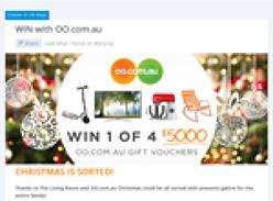 Win 1 of 4 $5,000 'OO.COM.AU' gift vouchers!