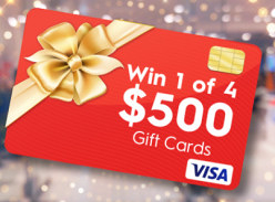 Win 1 of 4 $500 VISA Gift Cards