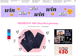 Win 1 of 4 Amour Monogram Sleepwear Sets