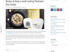 Win 1 of 4 Chances to Review & Keep a Panasonic Rice Cooker