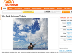 Win 1 of 4 double passes to see Jack Johnson live!