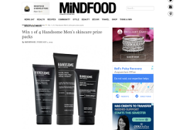 Win 1 of 4 Handsome Men's Skincare Prize Packs