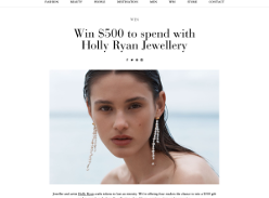 Win 1 of 4 Holly Ryan Jewellery Gift Cards