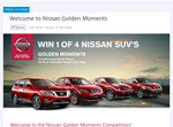 Win 1 of 4 Nissan SUV's!