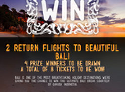 Win 1 of 4 trips to Bali!