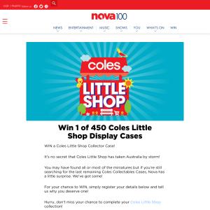 finest selection 3163c e8d72 Nova 100 - Win 1 of 450 Coles Little Shop Display Cases ...
