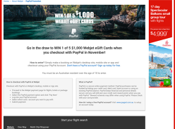 Win 1 of 5 $1,000 Flight Giftcards