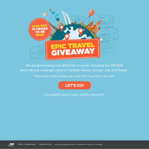 Win 1 Of 5 10000 International Travel Gift Cards More