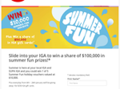 Win 1 of 5 $10,000 summer holidays + 10 x $250 gift cards to be won!