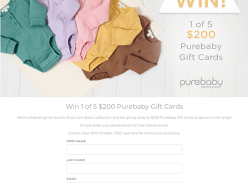 Win 1 of 5 $200 Gift Cards!