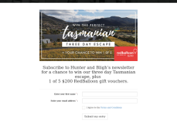 Win 1 of 5 $200 RedBalloon gift vouchers plus entry into our Three Day Tasmanian Escape
