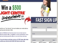 Win 1 of 5 $500 Flight Centre Gift Cards