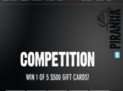 Win 1 of 5 $500 gift cards!