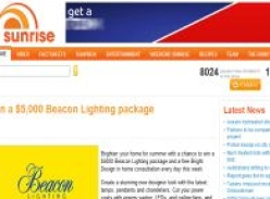 Win 1 of 5 $5000 Beacon lighting packages!