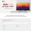 "Win 1 of 5 65"" C8 OLED AI ThinQ™ LG TVs with the Google Assistant"