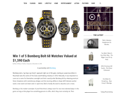 Win 1 of 5 Bomberg Bolt 68 Watches Valued at $1,590 Each