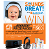 Win 1 of 5 Bose Music Systems