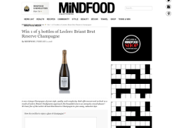 Win 1 of 5 bottles of Leclerc Briant Brut Reserve Champagne