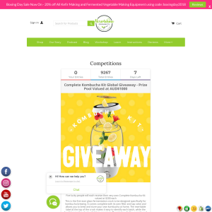 Win 1 of 5 Complete Kombucha Kits Worth $200