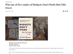 Win 1 of 5 copies of Budgets Don't Work
