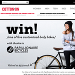 Win 1 of 5 customised Body Bikes by Papillionaire Bicycles!