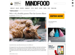 Win 1 of 5 double passes The Cat Lovers Show