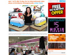 Win 1 of 5 double passes to International Cake Show at Brisbane Showgrounds