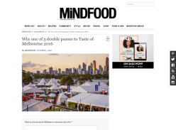 Win 1 of 5 double passes to 'Taste of Melbourne' 2016!