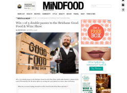 Win 1 of 5 double passes to the Brisbane Good Food & Wine Show