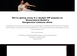 Win 1 of 5 DPs to Qld Ballet Dangerous Liasions