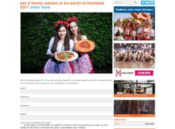 Win 1 Of 5 Family Passes To Festitalia 2017