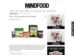 Win 1 of 5 'Freedom Foods' bundles!