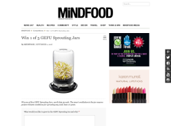 Win 1 of 5 GEFU Sprouting Jars!