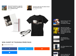 Win 1 of 5 Ghost of Tsushima Prize Packs