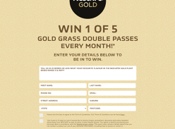 Win 1 of 5 Gold Grass Double Passes to the Moonlight Cinema!
