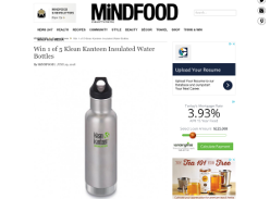 Win 1 of 5 Klean Kanteen Insulated Water Bottles